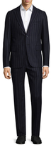Isaia Printed Stripes Suit