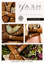 Flash Tattoos Camille Tattoo in Metallic Gold.