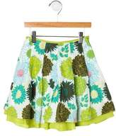 Catimini Girls' Pleated Floral Skirt