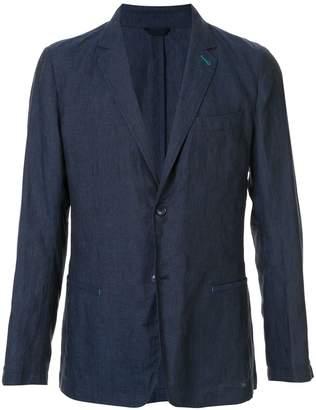 Shanghai Tang linen single-breasted blazer