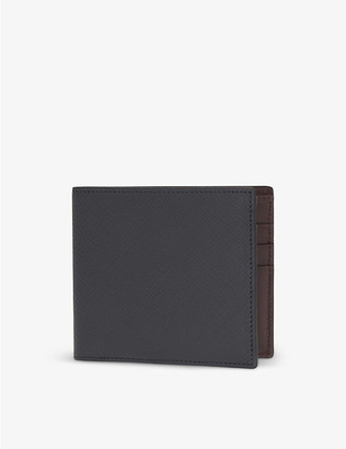 Smythson Panama leather card wallet