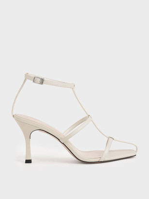 Charles & Keith Caged Strappy Heeled Sandals