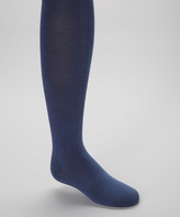 Me Moi Blue Indigo Flat-Knight Tights - Toddler & Girls