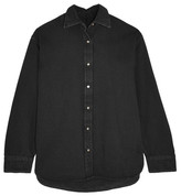 Balenciaga Oversized Denim Shirt - Black