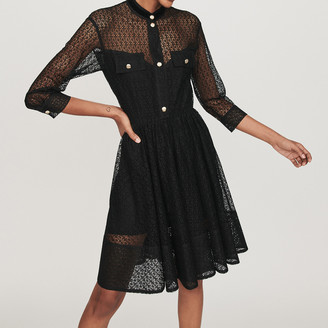 Maje Lace skater dress