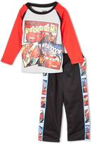 Children's Apparel Network Gray Cars Long-Sleeve Tee & Track Pants - Boys