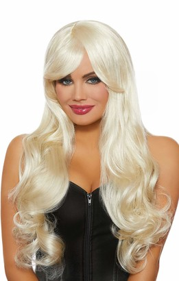 Dreamgirl Women's Long Wavy Platinum Blonde Wig One Size
