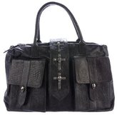 Thomas Wylde Skull-Embellished Leather Shoulder Bag