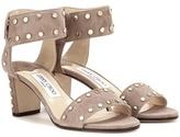 Jimmy Choo Veto 65 Embellished Suede Sandals