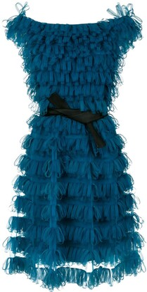 Gloria Coelho Off The Shoulder Ribbon Dress