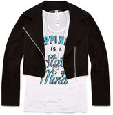 Beautees 3-pc. Moto Jacket, Graphic Tank Top and Necklace Set - Girls 7-16