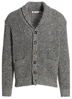 Brunello Cucinelli Donegal Shawl Collar Sweater