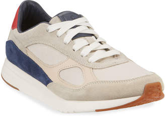 Cole Haan Men's Grand Pro Mixed Leather Runner Sneakers
