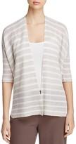 Eileen Fisher Elbow-Sleeve Organic Linen Cardigan