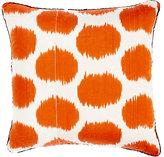 Madeline Weinrib Mu Ikat Pillow-ORANGE