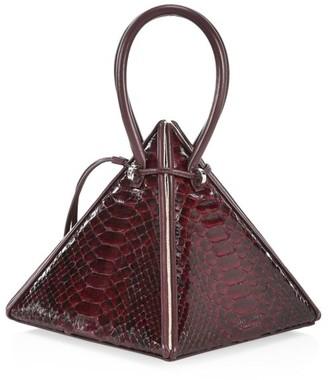 Nita Suri Lia Pyramid Python Handbag