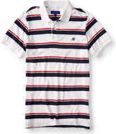 A87 Bold Stripe Jersey Polo
