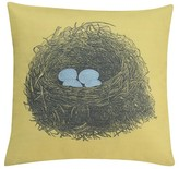 "Thomas Paul Seedling By ; Aviary Nest Pillow Cover 18""X18"" - Mustard Yellow"