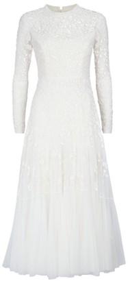 Needle & Thread Bella Sequin Long Sleeve Ballerina Bridal Gown