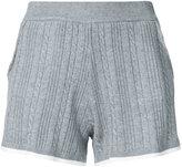 GUILD PRIME cable knit shorts - women - Cotton/Nylon/Rayon - 36