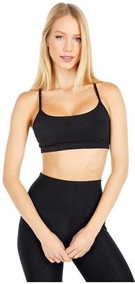 Beyond Yoga Snake Jacquard Slim Racerback Bra (Black) Women's Bra