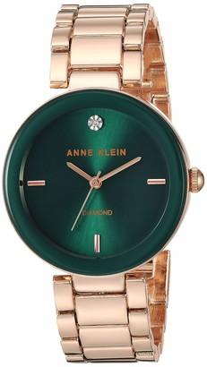 Anne Klein Women's AK/1362GNRG Quartz Metal and Alloy Rose Gold-Toned Dress Watch