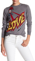Love Moschino Space Laser Knit Wool Blend Sweater