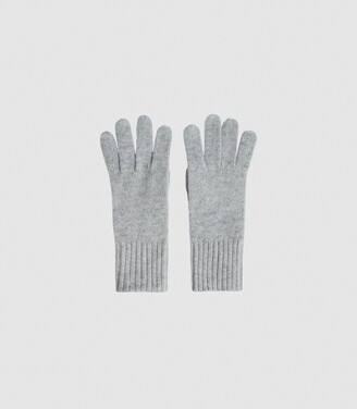 Reiss Georgia - Cashmere Gloves in Grey