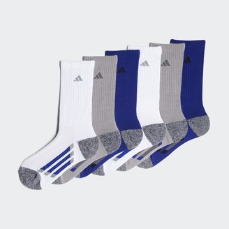 adidas Vertical Stripe Crew Socks 6 Pairs