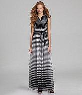 Vince Camuto Striped Ombre Maxi Dress