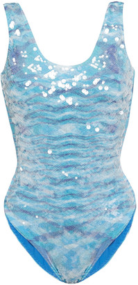 Missoni Mare Mare Sequin-embellished Crochet-knit Swimsuit