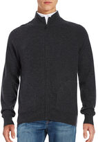 Black Brown 1826 Cashmere Zip Up Sweater