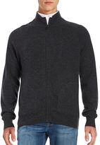 Black Brown 1826 Cashmere Zip Up Sweater