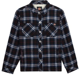 Dickies Fleece Lined Plaid Flannel Shirt Jacket