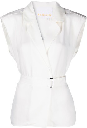 REMAIN Notched Collar Top