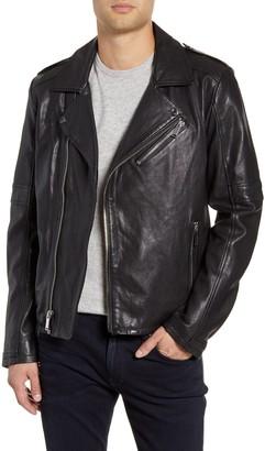 Karl Lagerfeld Paris Leather Biker Jacket