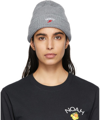 Noah NYC Grey Wing Foot Beanie