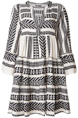 Devotion Black Zakar Embroidery Dress - XS - White/Black