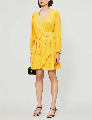 Maje Roseya V-neck woven mini dress