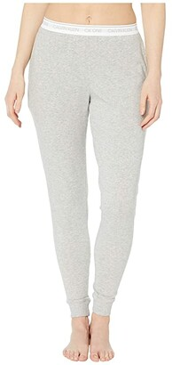 Calvin Klein Underwear One Basic Lounge French Terry Joggers (Grey Heather) Women's Pajama