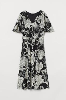 H&M Creped Jersey Dress - Black