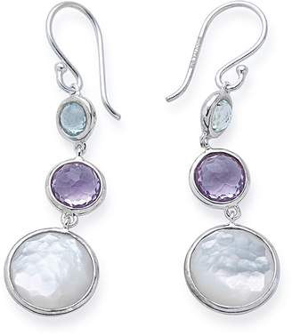 Ippolita Lollitini 3-Stone Drop Earrings in Sterling Silver