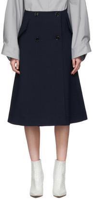 MM6 MAISON MARGIELA Navy Double-Button A-Line Skirt