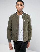 Selected Padded Bomber Jacket