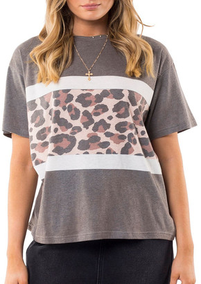 All About Eve Leopard Panel Tee