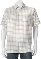 Haggar Men's Microfiber Button-Down Shirt