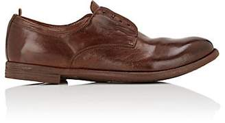 Officine Creative Men's Washed Leather Bluchers - Med. brown