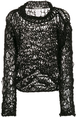 Issey Miyake Pre-Owned 1990s open knit jumper