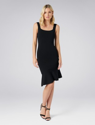 Forever New Jade Square Neck Dress - Black - 10