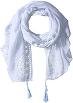 Pure Style Girlfriends Women's Embroidery Paisley Scarf